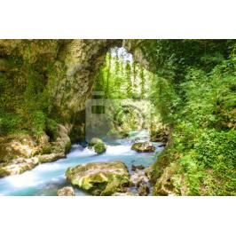 Fototapeta Theogefiro (God's bridge) in Lithino, Greece Fototapety