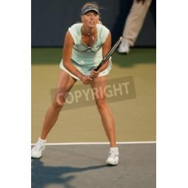 Fototapeta STANFORD UNIVERSITY, CA - JULY 27: Maria Sharapova, Russia, plays at the Bank of the West Classic vs. Zheng Jie, China, on July 27, 2010 in Stanford, CA
