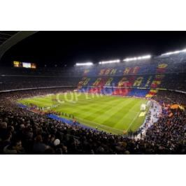 Fototapeta BARCELONA - JANUARY 25: View of Camp Nou stadium before the Spanish Cup match between FC Barcelona and Real Madrid, final score 2 - 2, on January 25, 2012, in Barcelona, Spain