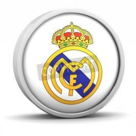 Fototapeta Real Madrid logo with circular metal frame. Part of a series.