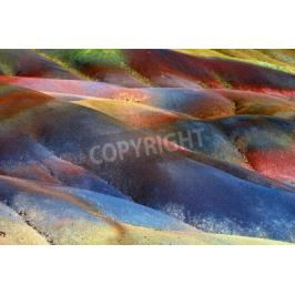 Fototapeta Main sight of Mauritius island  Unusual volcanic formation seven colored earths in Chamarel